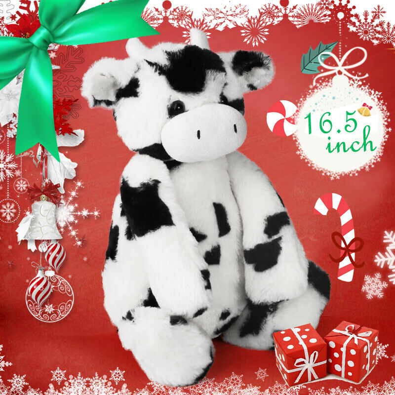 16'' Baby Plush Toy Doll Toy Stuffed Animal Cuddly Milk Cow