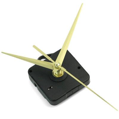 Black Quartz Wall Clock Movement Mechanism 3 Gold Hands DIY Repair Parts Kit HOT for sale  Shipping to Canada
