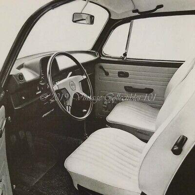 1973 VW Volkswagen Super Beetle interior car photo vintage print ad poster