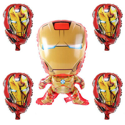 Superhero Iron Man Avengers Balloon Birthday Party Decorations