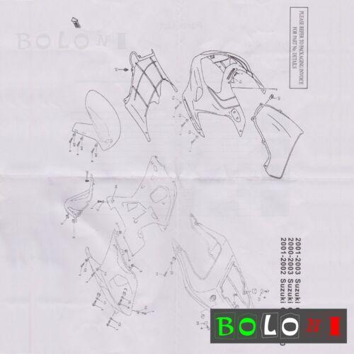 Complete Fairing Bolt Screws Kit For Suzuki GSXR600