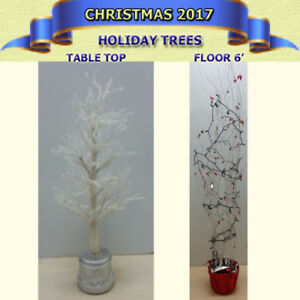 TWO HOLIDAY DECORATIVE TREES IN EXCELLENT CONDITION