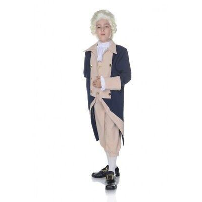 Boy George Halloween Kostüme (Underwraps George Washington President Boys History Halloween Costume 25880)