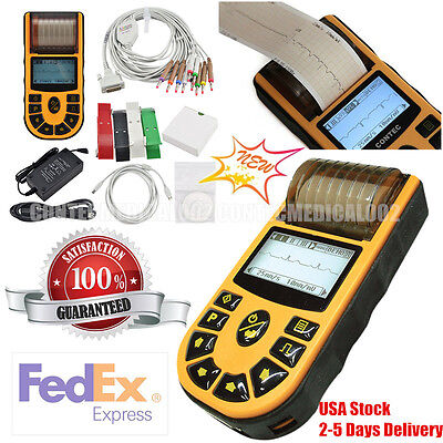 Us Digital 1 Channel Electrocardiograph Ecg Machine 12 Lead Ekgsoftwareprinter