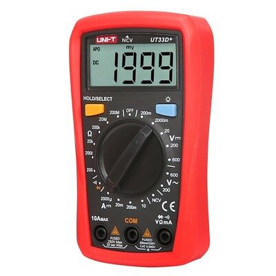 Uni-t Ut33d Palm Size Digital Multimetersresistancemini Dmm Meter