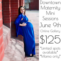 Downtown maternity mini sessions