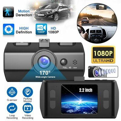 2.2'' Dash Cam FHD 1080P Front and Rear Car Dashboard Camera 170° DVR Recorder