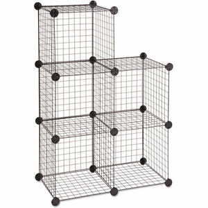 wire mesh cube shelving
