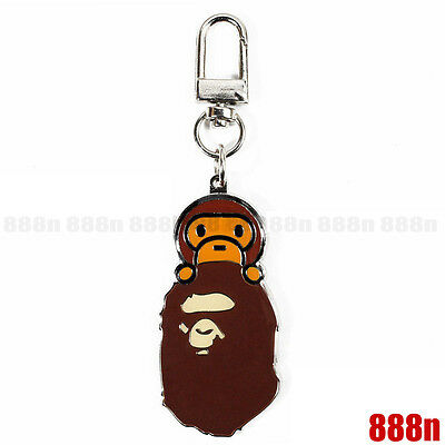 A BATHING APE BAPE BABY MILO Metal Keychain Keyring Pendant Key Holder