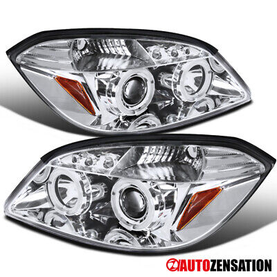 For 2005-2010 Chevy Cobalt 2007-2009 G5 Clear LED Dual Halo Projector Headlights