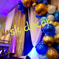 Party Decorations...balloons, backdrops etc.