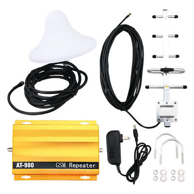GSM 900MHz Mobile Phone Signal Booster Repeater Amplifier + Yagi Antenna AT980