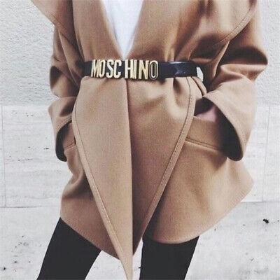Moschino Schnalle Gürtel Damen Fashion Legierung Glatt Waistband Ledergürtel - Damen Fashion Schnallen