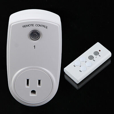 Wireless Remote Control Outlet Switch Power Plug In for lights Lamp LED bulbs