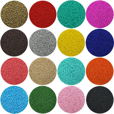 Lot of 2500pcs Economical 11/0 Rocaille 1.8mm Small Round Glass Seed Beads DIY (Small Beads)