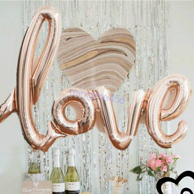 LOVE Shape Foil Balloon Birthday Wedding Party Anniversary Decor Helium - Wedding Anniversary Decorations