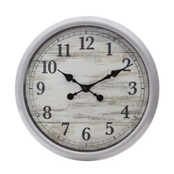 Pemberly Wall Clock 20In Antique Grey