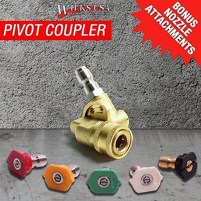 Pivot Coupler, for Pressure Washer, Lance, Telescopic Lance. Genuine Wilks-USA