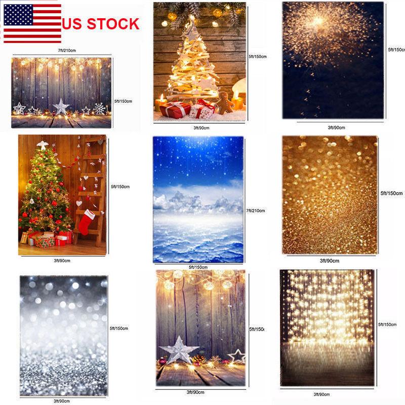 Christmas Light Golden Child Photo Backgrounds Board Vinyl B