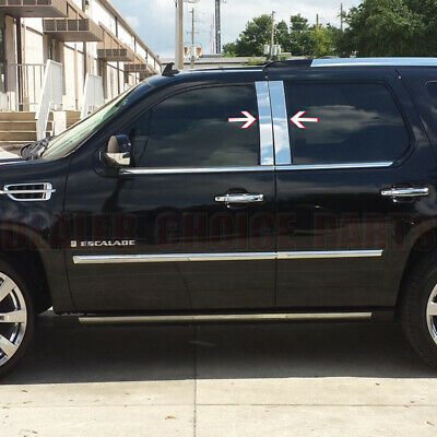Chrome STAINLESS STEEL Pillar Posts for 2007-2014 CADILLAC ESCALADE 4pc (Stainless Steel Tail Light Bezels)
