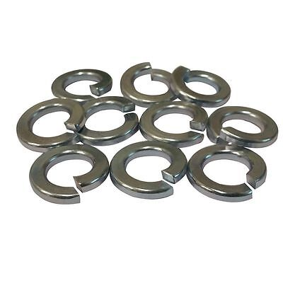 "Split Ring Lock Washer 1/4"" ,  (Qty: 100)  Steel / Zinc Plated"