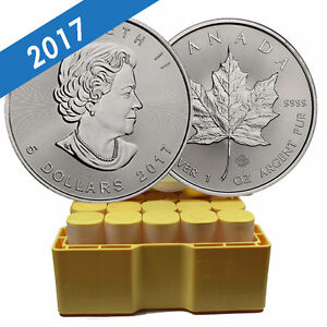 2017 Silver Maple Leaf Coins - Authorized RCM Bullion DNA Dealer Cornwall Ontario image 1