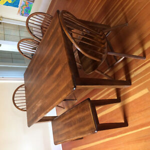 Dining Set: table, bench, 5 chairs,