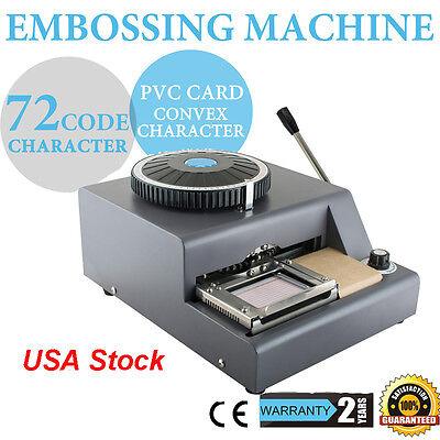 1-11 Lines Update 72-character Pvc Manual Credit Card Embossing Machine Embosser