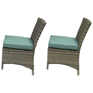 Tropea Wicker chair Stone Blue set of 2 Brand new in Box