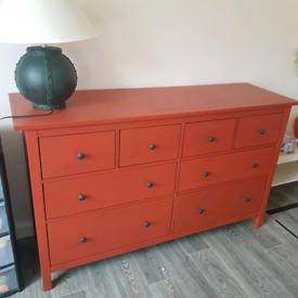 Hemnes solid pine 8 drawer sideboard