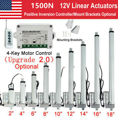 1500n Linear Actuator Heavy Duty 12v 2-18 High-speed Motor And Durable Stroke