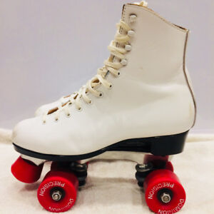Dominion Women's Size 8.5 Roller Skates Vintage Real Leather