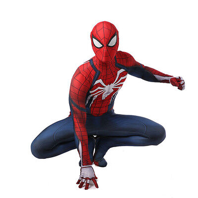 Spiderman Costume Adult Man Spandex Lycra Zentai 3D Bodysuit Cosplay - Spider Man Lycra Spandex