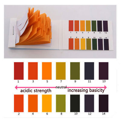 Lab Ph Alkaline Acid Water Litmus Testing Kit 160 Strip 1-14 Test Paper Chemical
