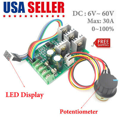 Motor Speed Regulator Dc 6-60v Power Drive Module Pwm Motor Speed Controller 30a