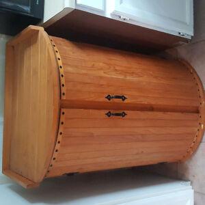 Cedar cabinet. Unique barrel style! For SALE!!!