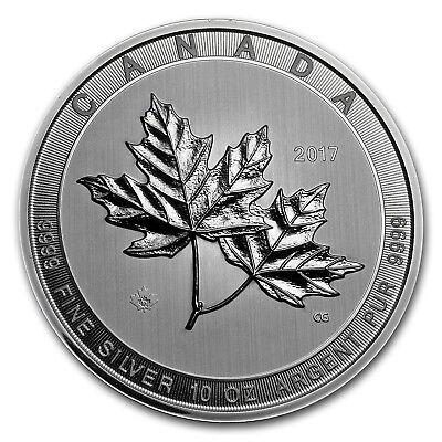 2017 Canada 10 Oz Silver  50 Magnificent Maple Leaves Bu   Sku  117815
