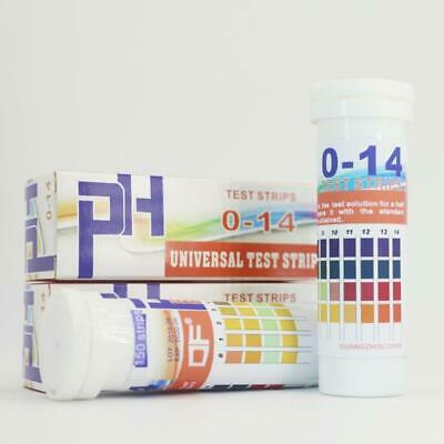 150 Strips Bottled Ph Test Strips 0-14 Ph Acidic Alkaline Indicator Urine Saliva