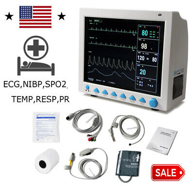 Contec Fdace Icu Ccu Vital Signs Patient Monitor6 Parameters Cms8000 Newest Us