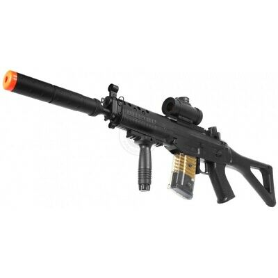 Double Eagle M82P Commando Electric Airsoft Gun Full Auto FPS-250, w/ flashlight
