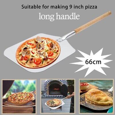 1X(Pala per Buccia per Pizza nel Alluminio da 9 Pollici con Manico nel Legn E6G5