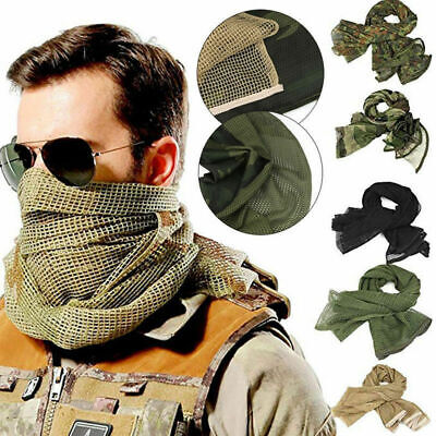 Sniper Veil Tactical Camouflage Mesh Net Knitting Scarf Wargame Head Wrap