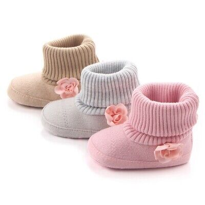 Baby Girl Boys Winter Warm Ankle Boots Booties Infant Toddler Newborn Snow -