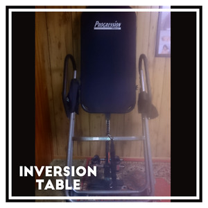 Progression fitness inversion table