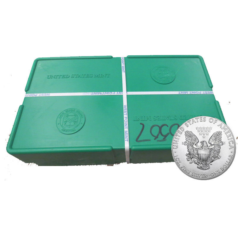 Купить US Mint - 500 Silver American Eagle 1oz Coins Sealed - US Mint Sealed Monster Box