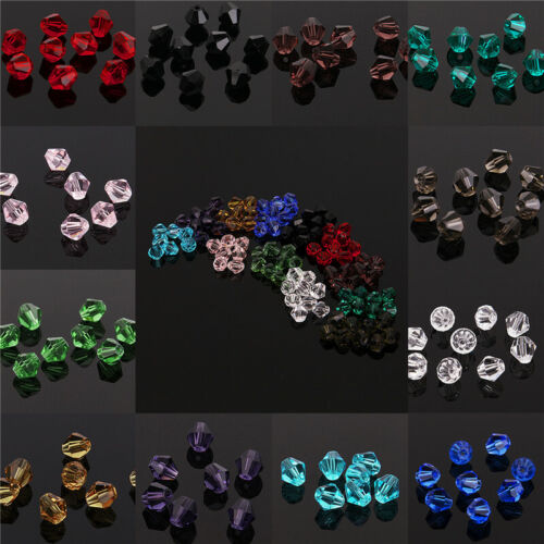 Wholesale Crystal Glass Bicone Faceted Loose Spacer Beads 4mm 6mm U Pick