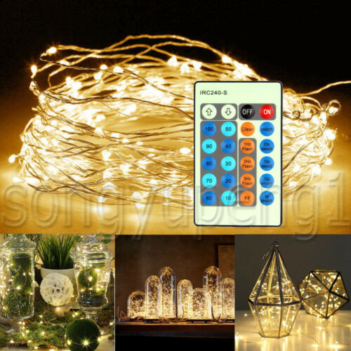 100 LED USB LED Copper Wire String Fairy Lights Waterproof X