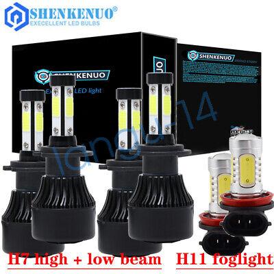 For BMW 325i 325xi 330xi 2002-2006 Combo LED Headlight Fog Light Kit 6000K