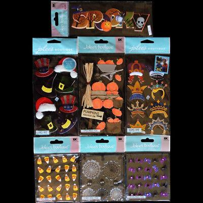 Jolees SPOOKY HALLOWEEN Holiday Hats Pumpkins Candy Corn Bats Spiders 7 PK - Spider Hat Craft Halloween