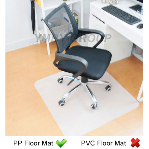hard floor protector home office chair mat non slip clear frosted pvc